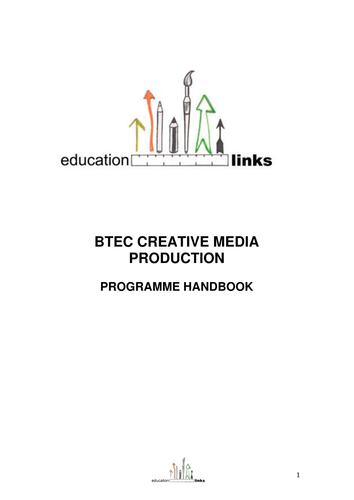 BTEC FIRST MEDIA PROGRAMME HANDBOOK