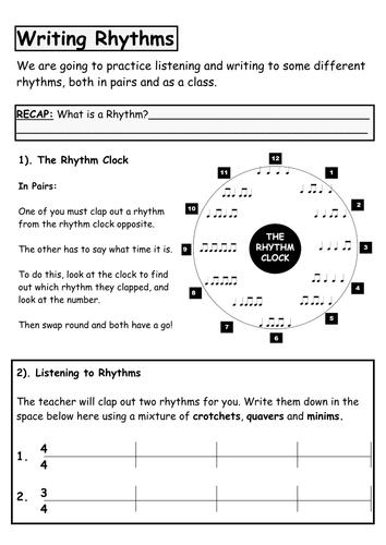 Pulse and Rhythm - Writing & Identifying Rhythms