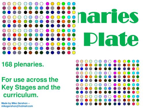 Plenaries on a Plate