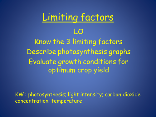 Limiting factors to photosynthesis by Janey447 - Teaching ...