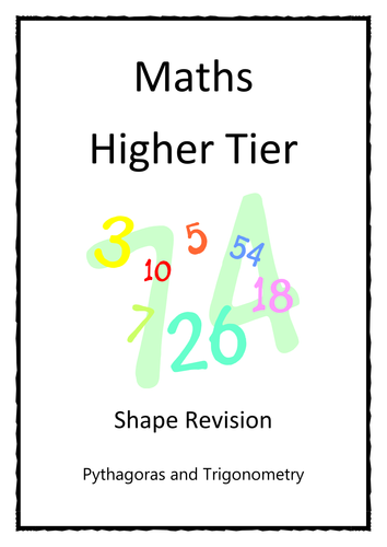 Revision Booklet - Pythagoras and Trigonometry