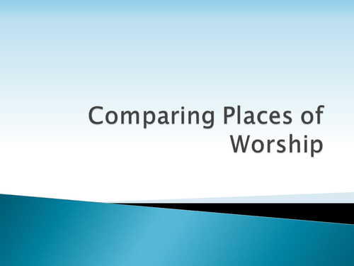 Comparing places of worship