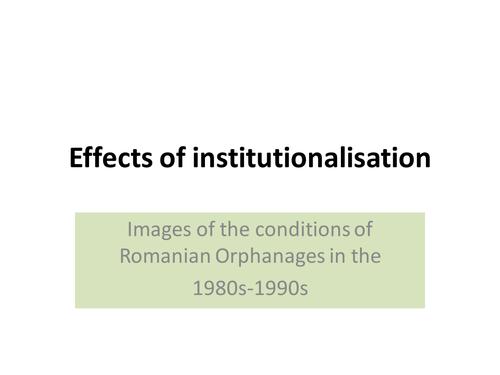Intro to institutionalisation