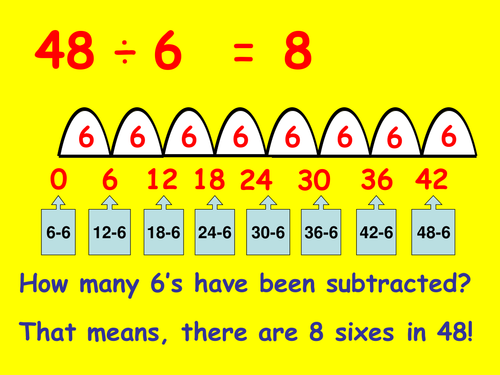 Division by repeated subtraction by dscott10316 Teaching – Repeated Subtraction Worksheets