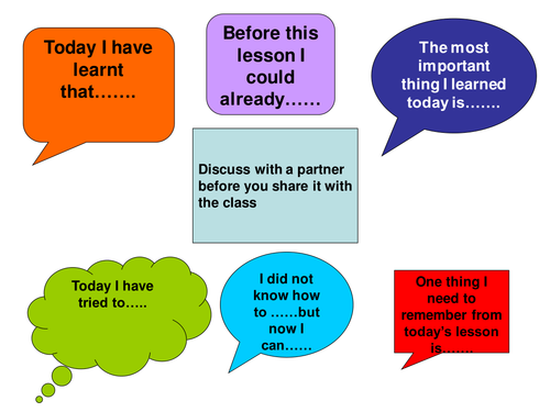 Thinking And Learning Plenary Mat By Ejk Teaching