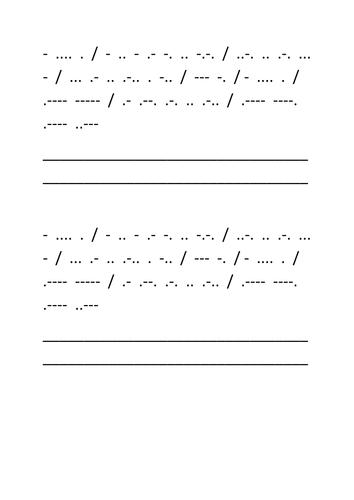 Morsecode activity - Titanic
