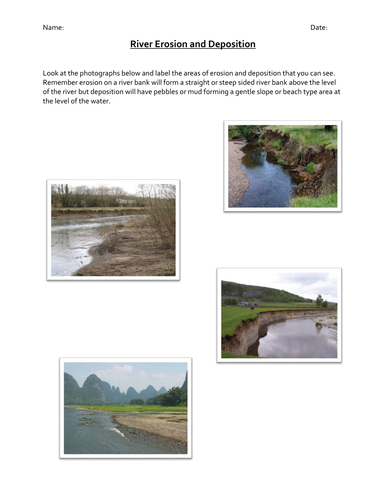 River Erosion Deposition By Jredman100 Teaching Resources Tes