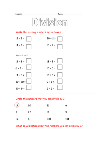 Dividing by 2, 5 and 10 by ahorsecalledarchie - Teaching Resources - Tes