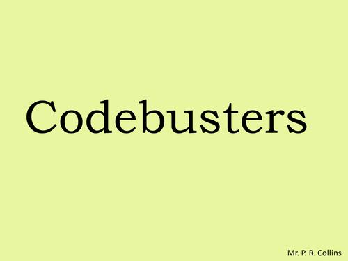 Algebraic Codebreaker Activity Worksheet