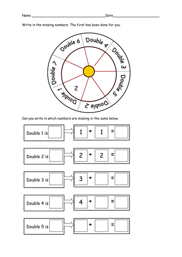 Differentiated worksheets for doubling by ruthbentham - Teaching ...