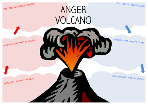 Anger Volcano Worksheet by starfish1954 - Teaching Resources - Tes