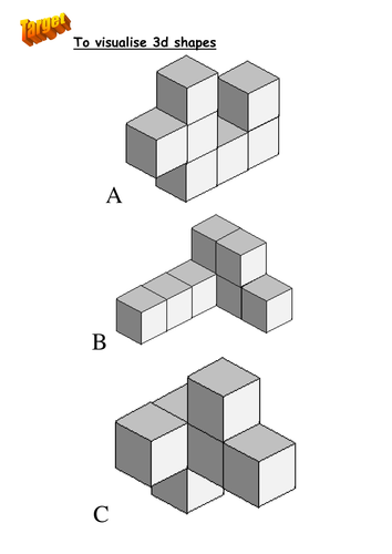 Making Shapes With Cubes By R Mcmanus1294 Teaching Resources