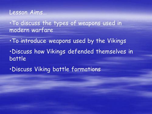 Viking weapons.