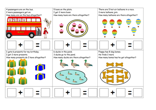 number stories addition focus by ruthbentham teaching resources. Black Bedroom Furniture Sets. Home Design Ideas