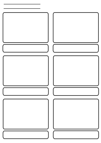 6 Panel Storyboard By Longheads Teaching Resources Tes