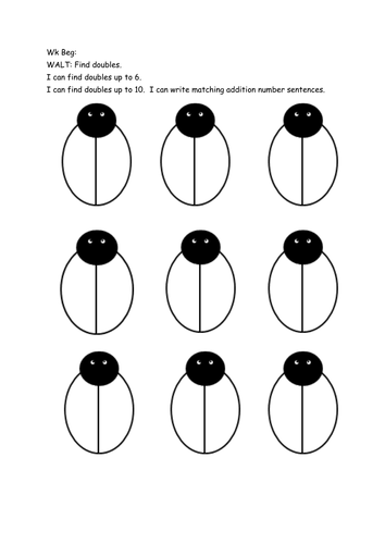 Ladybird doubles by sarahdawnrees - Teaching Resources - Tes
