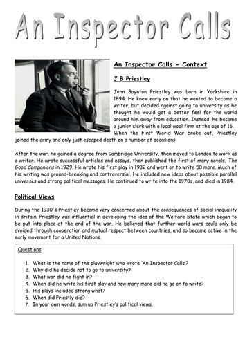 inspector calls essay aqa eng lit an inspector calls essay on dramatic devices tes