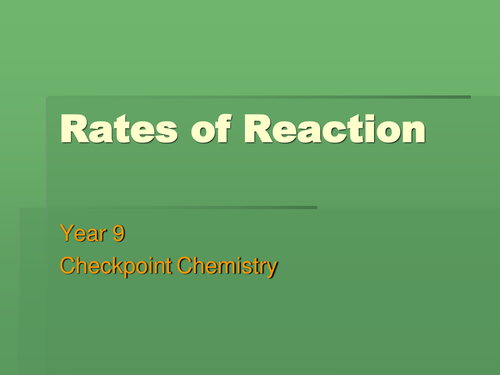 gcse chemistry coursework on rates of reaction