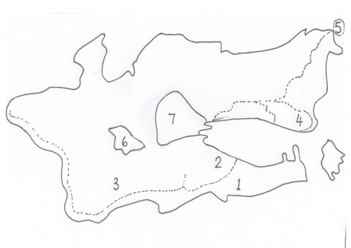 Outline of the Isle of Struay/ Coll and B. Isles