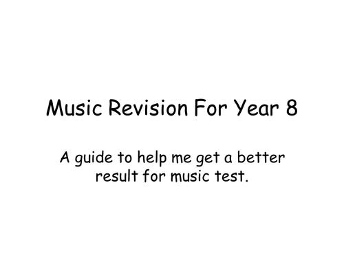 Music Revision Guide