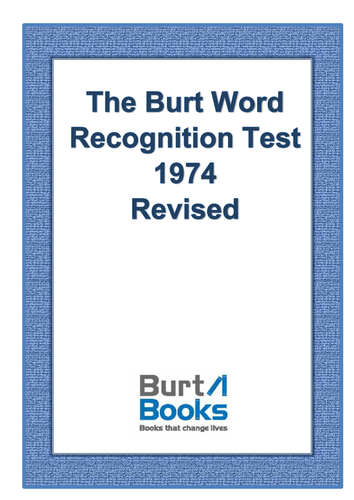 burt word recognition test by coreenburt teaching resources tes