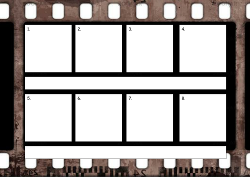 Storyboard With Film Strip Background Template By Rosiefrancesca