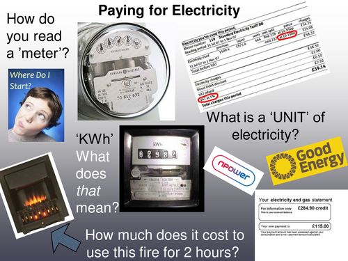 Paying for Electricity starter activity
