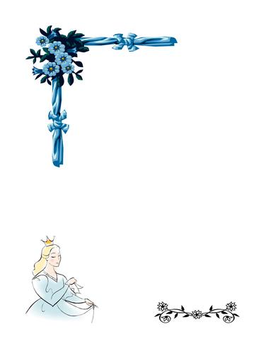 Prince/Princess writing frame