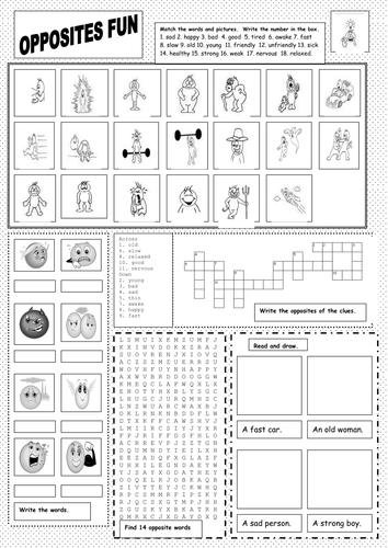 EAL / Weather Fun Worksheet by martuska - Teaching Resources - Tes