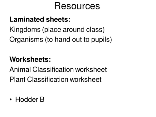 Classification of Plants and Animals by jballmate Teaching – Kingdom Classification Worksheet