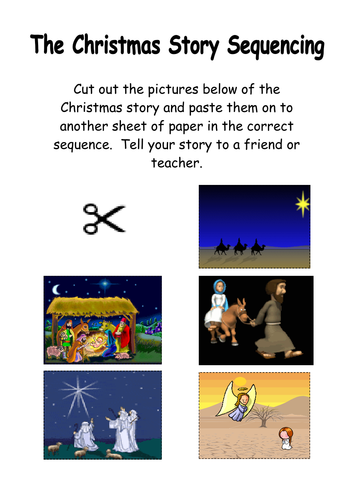 The Nativity Story Sequencing By Kmed2020 Teaching Resources