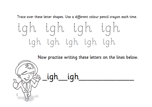 TES Phonics Does Handwriting igh by TESPhonics Teaching – Igh Worksheets