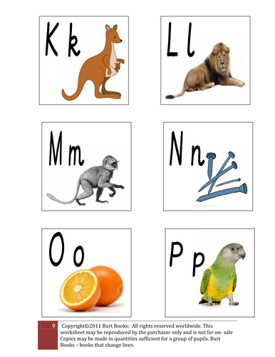 SOUNDS OF THE ALPHABET PICTURE CARDS 3