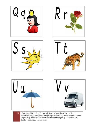 SOUNDS OF THE ALPHABET PICTURE CARDS 4.