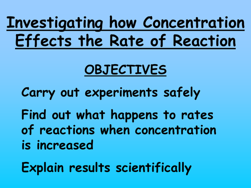 investigating rates of reaction