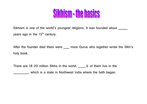 Sikhism resources for 5 lessons by mazza83 - Teaching Resources - Tes