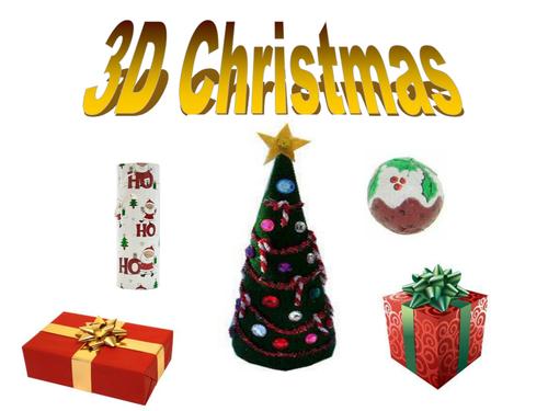 Christmas Shapes.Christmas 3d Shapes