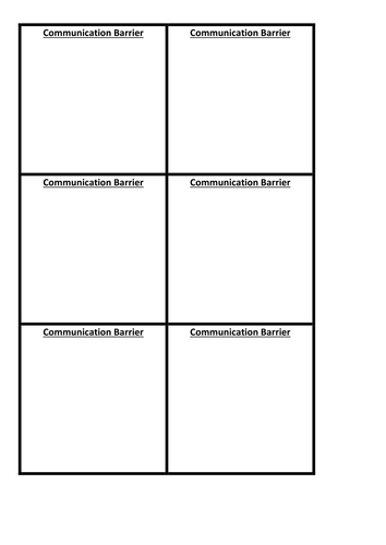 Communication Lesson Plan & resources