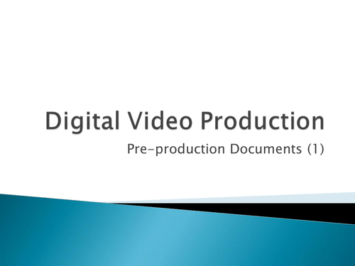 pre production media coursework Example coursework understanding media production and techniques media essay print reference this published: pre-production, (2.