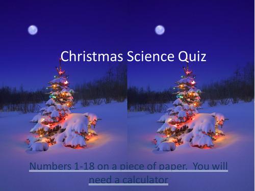 Christmas Science Quiz