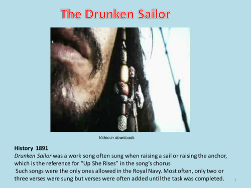 'The drunken sailor