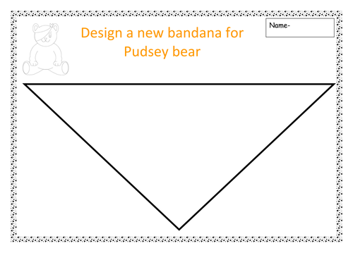 Design a bandana for Pudsey bear -Children in need