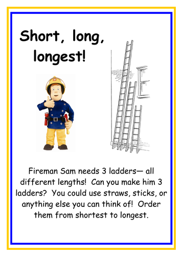 Fireman Sams Ladders by kmed2020  Teaching Resources  Tes