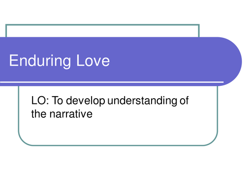 analysis of chapter 9 of enduring Enduring love - chapter one synopsis in this chapter explore chapter 1 of enduring love and consider what it our study guides highlight the really important.