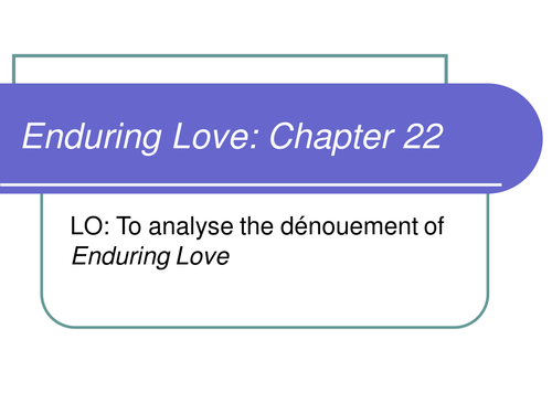 enduring love notes chapter 5
