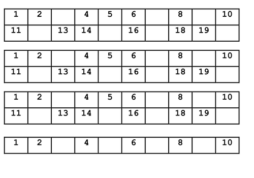 Differentiated missing numbers worksheet by ruthbentham - Teaching ...