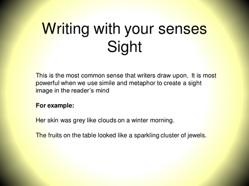 Writing for the senses