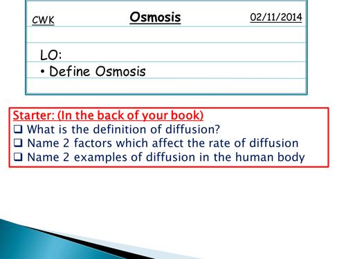 Osmosis Powerpoint