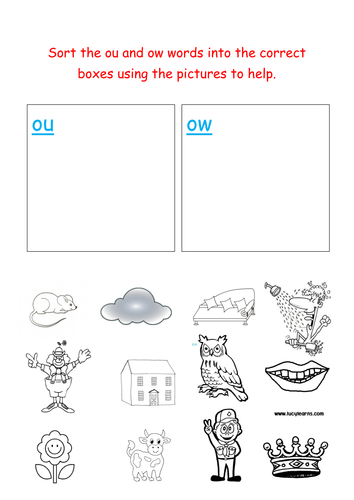 Ou Ow Worksheet - Delibertad