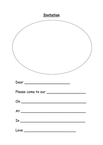 invitation template by lynreb teaching resources tes